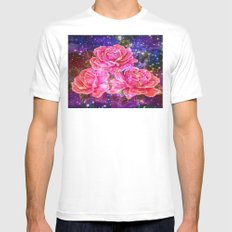 Roses with sparkles and purple infusion Mens Fitted Tee White SMALL