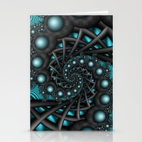 Cyber Wave Stationery Cards