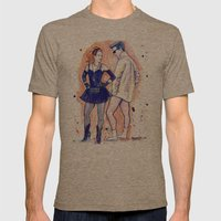 Veronica Loves Logan Mens Fitted Tee Tri-Coffee SMALL