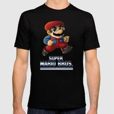 Super Mario Bros. The Movie: The Game SMALL Black Mens Fitted Tee