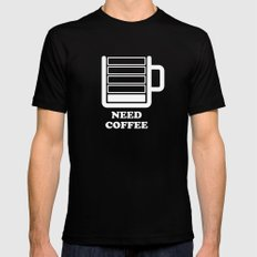 Need Coffee Black Mens Fitted Tee SMALL