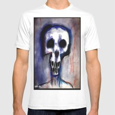 Grimly Mens Fitted Tee White SMALL