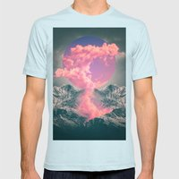 Ruptured Soul  Mens Fitted Tee Light Blue SMALL