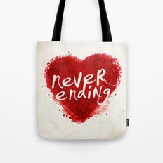 never ending love Tote Bag