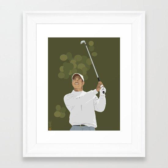 Tiger Woods Framed Art Print