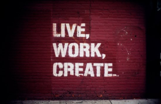Live Work Create - Urban Way Canvas Print
