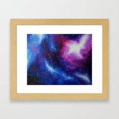 Galaxy Art Print from an original acrylic Painting Purple, Blue, Pink Framed Art Print