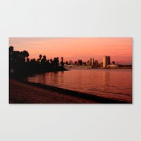 San Diego Skyline In Pin… Canvas Print