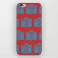 I Still Shoot Film Holga Logo - Red & Blue iPhone & iPod Skin