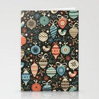 Festive Folk Charms Stationery Cards