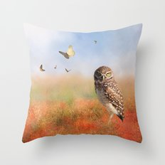 In The Poppy Field Throw Pillow