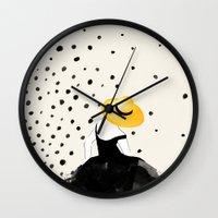 Polka Rain II Wall Clock