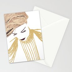Her eyes were low Stationery Cards