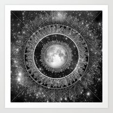 Major Tom (floating in my tin can, far above the Moon) Art Print