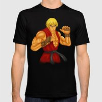 Ken Street Fighter Mens Fitted Tee Black SMALL