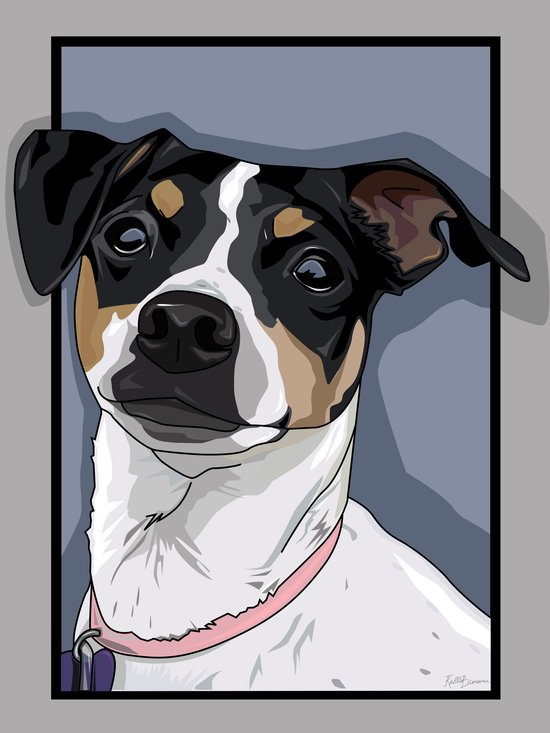 Hailey Dog Art Print