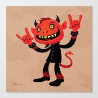 Heavy Metal Devil Canvas Print
