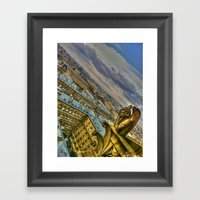 Gargoyle Of The Notre Da… Framed Art Print