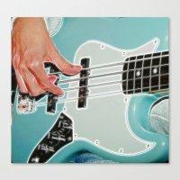 Mr Bassman Guitar Fracta… Canvas Print