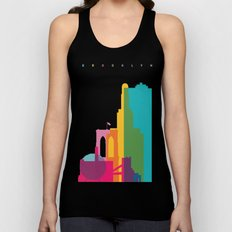 Shapes of Brooklyn. Accurate to scale Unisex Tank Top