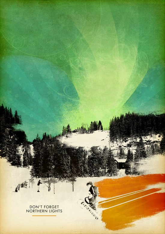 Dont Forget Northern Lights Canvas Print