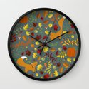 Fox In The Leaves Wall Clock