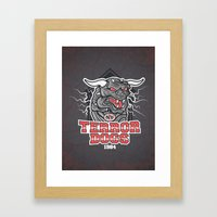 NY Terror Dogs Framed Art Print