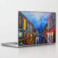 eiffel Laptop & iPad Skins featuring Eiffel Tower Street by ArtSchool