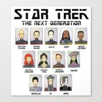 STAR TREK THE NEXT GENER… Canvas Print