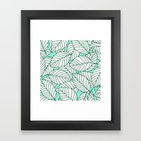 Sweet Leafs: Mint Framed Art Print