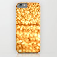 glitter iPhone & iPod Cases featuring Gold Glitter Sparkles by WhimsyRomance&Fun