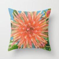 Dahlia Variabilis Throw Pillow