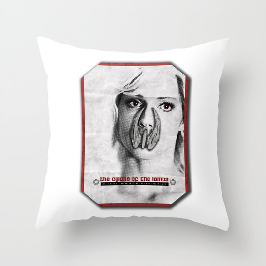 the cylons of the lambs Throw Pillow