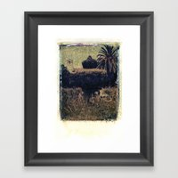 Mission Fountain Framed Art Print