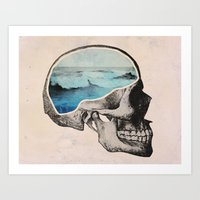 ocean Art Prints featuring Brain Waves by Chase Kunz