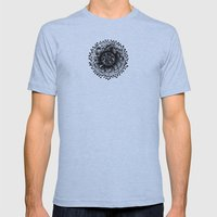 mandala Mens Fitted Tee Athletic Blue SMALL