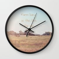 Farm Living Is The Life … Wall Clock