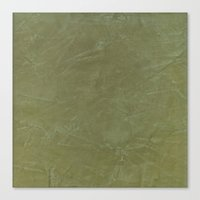 Tuscan Olive Green Plaster Canvas Print