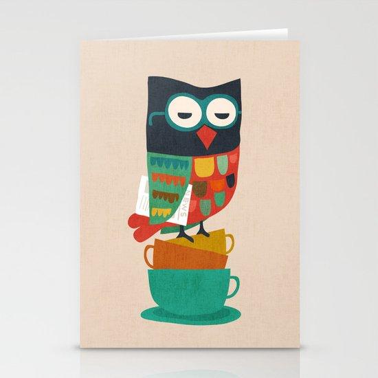 Morning Owl Stationery Card