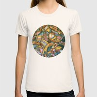 With Bird Biting Shirt S… Womens Fitted Tee Natural SMALL