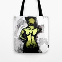 Naked Black and White Tote Bag