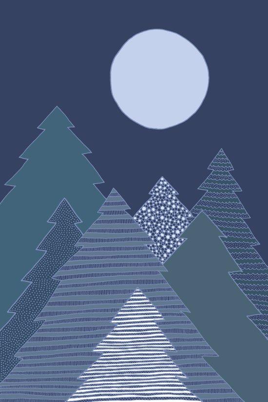 Magic Night Trees Art Print