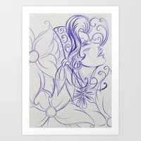 Purple Mirror Gypsy Art Print