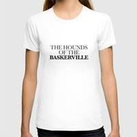 THE HOUNDS OF THE BASKERVILLE Womens Fitted Tee White SMALL