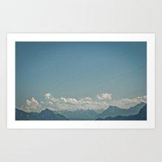 Blue Mountains Art Print