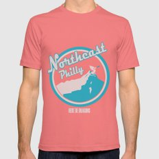 Northeast Philly SMALL Pomegranate Mens Fitted Tee