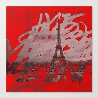 Je romps les habitudes à Paris. Canvas Print