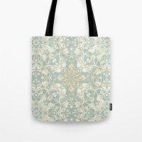 Soft Sage & Cream Hand D… Tote Bag