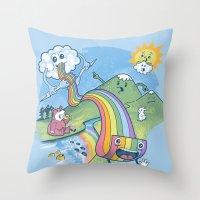 Rainbow Pasta Throw Pillow