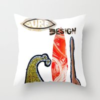 Surf Design Throw Pillow